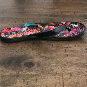 adidas Shoes - Adidas Colorful Gel Textured Flip Flops